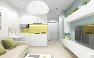Дизайн маленькой квартиры-студии — оптимальная меблировка и зонирование