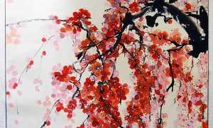 Японская живопись цветы