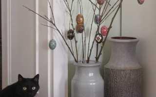 Ветки для напольной вазы своими руками: процесс изготовления