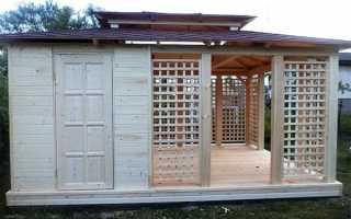 Строим беседку и сарай под одной крышей