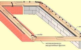 Способы крепления мауэрлата к кирпичной стене