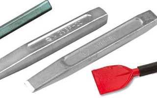 Слесарное зубило 200 мм – грамотно наносим удары по металлу + видео
