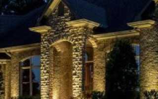 Декоративная подсветка фасада — плюсы и минусы (24 фото)