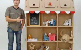 Шкаф из коробок для одежды своими руками: пошаговая инструкция по изготовлению